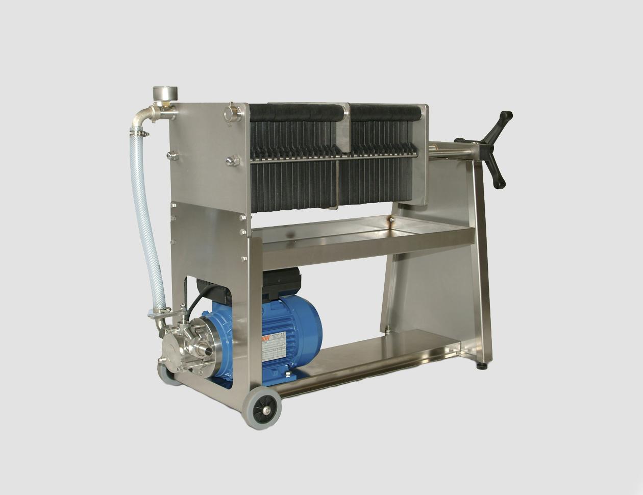 F10-20-30-40 inox con pompa Z12/25 piastra in PA66FV30 e doppia filtrazione